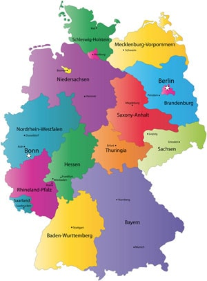 germany map min - About Germany
