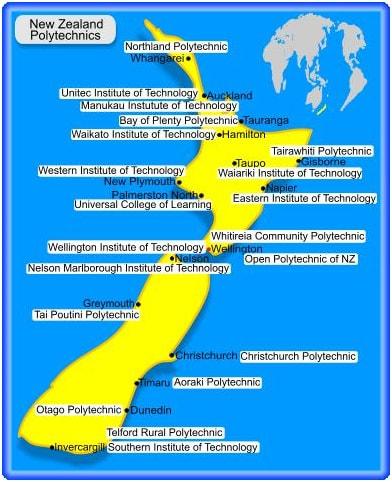nzlnd poltnc min - List of Universities in New Zealand